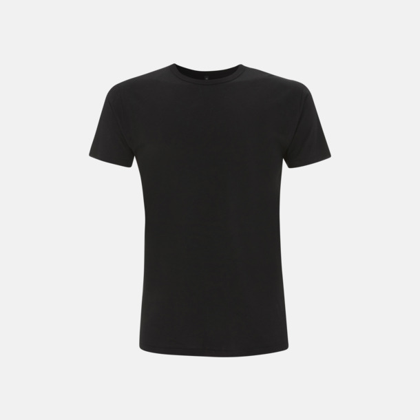 Svart Herr t-shirts i bambu med reklamtryck