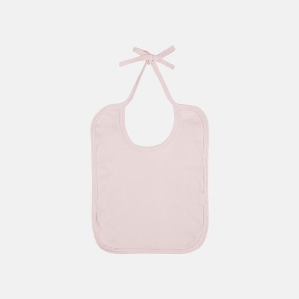 Powder pink Ekologiska haklappar i många färger - med reklamtryck