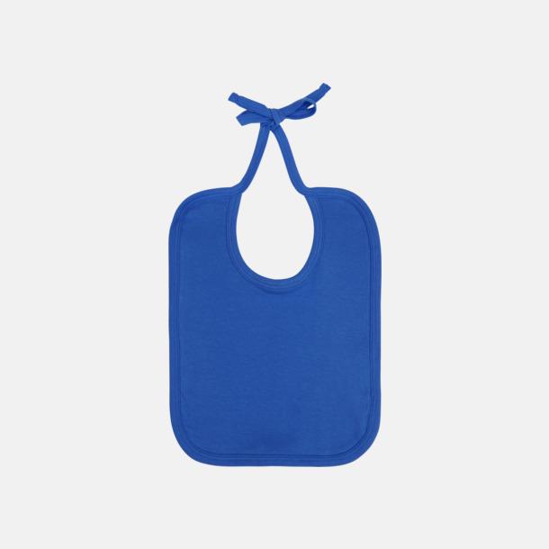 Bright blue Ekologiska haklappar i många färger - med reklamtryck