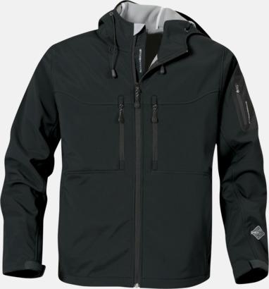 Svart Riktigt fina soft shell jackor med reklamtryck
