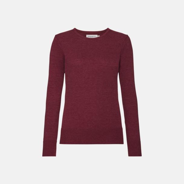Cranberry Marl (dam) Stickade pullovers i herr- och dammodell med reklamlogo