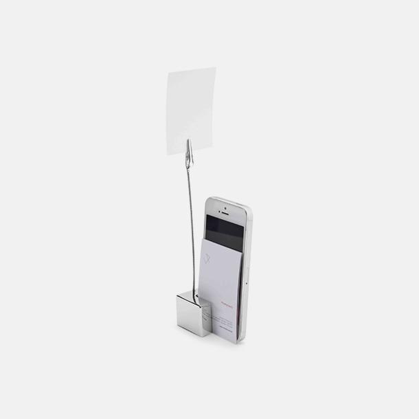 Memohållare med ställ för kort och mobil - med reklamtryck
