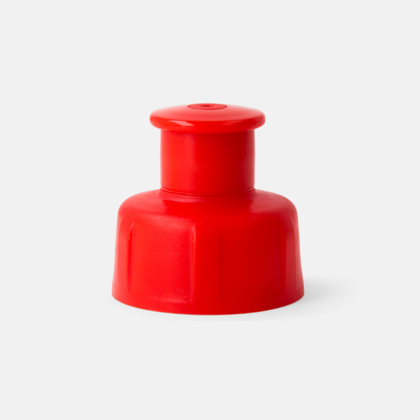 Röd kork Lady - vattenflaskor i bioplast med reklamtryck