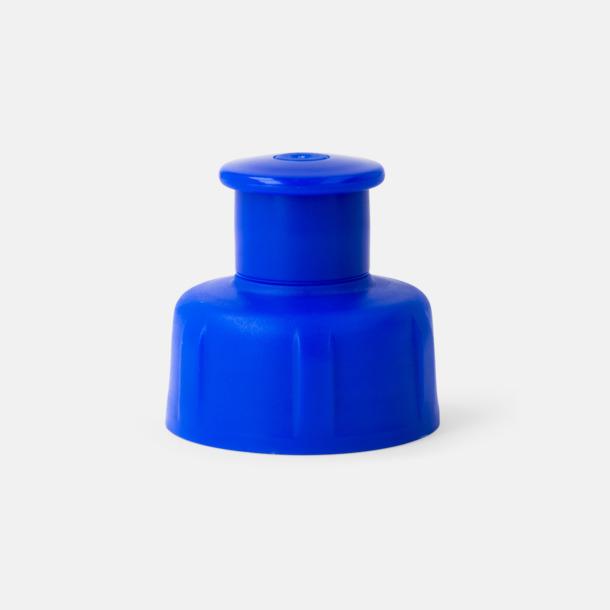 Blå kork Lady - vattenflaskor i bioplast med reklamtryck