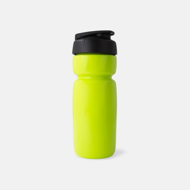 Solid Limegrön (flaska)/Svart (kork) Sportiga vattenflaskor med flipkapsyl med reklamtryck
