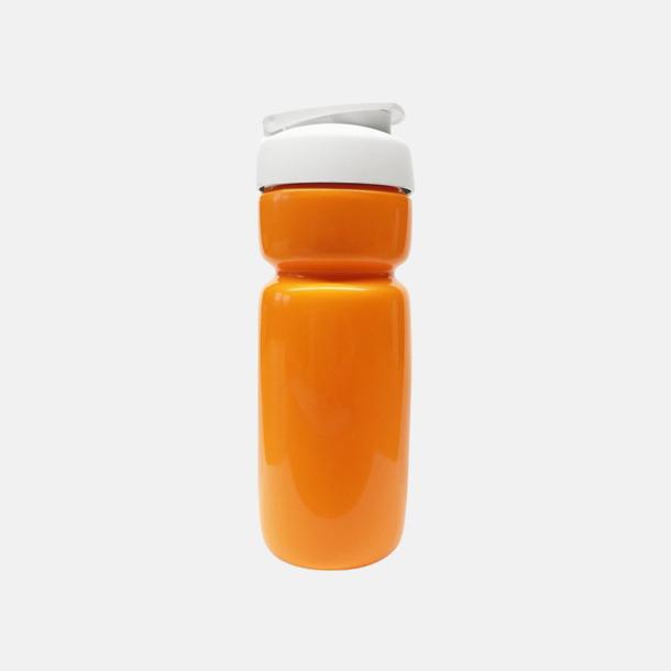 Solid Orange (flaska)/Svart (kork) Sportiga vattenflaskor med flipkapsyl med reklamtryck