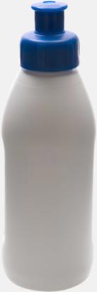 Vit / Blå Små vattenflaskor (30 cl) med reklamtryck