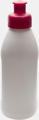 Vit / Röd Små vattenflaskor (30 cl) med reklamtryck