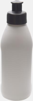 Vit / Svart Små vattenflaskor (30 cl) med reklamtryck