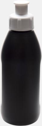 Svart / Vit Små vattenflaskor (30 cl) med reklamtryck