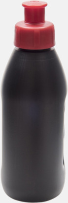 Svart / Röd Små vattenflaskor (30 cl) med reklamtryck