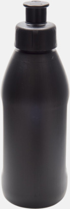 Svart Små vattenflaskor (30 cl) med reklamtryck