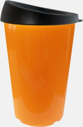 Orange 33 cl take away-muggar med reklamtryck