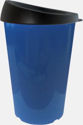 Blå 33 cl take away-muggar med reklamtryck