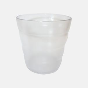 Vågade plastglas med reklamtryck