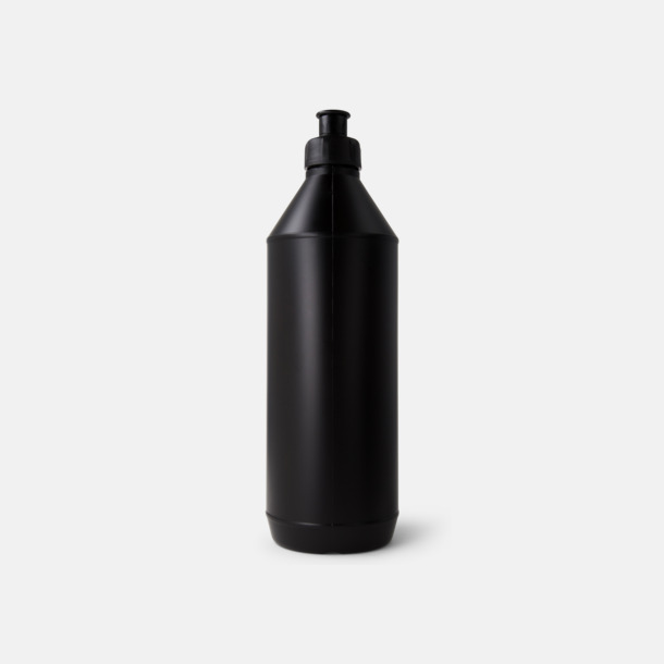 Svart Classic - Vattenflaskor med tryck