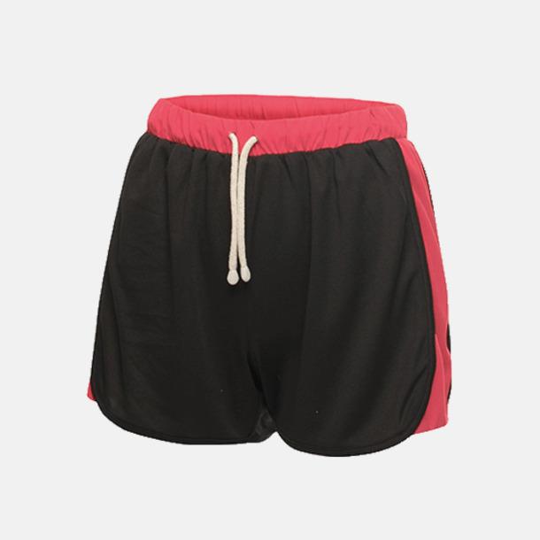 Svart/Hot Pink (endast dam) Funktionsshorts från Regatta med reklamtryck