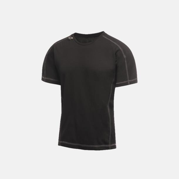 Svart (herr) 2-färgade funktions t-shirts med reklamtryck