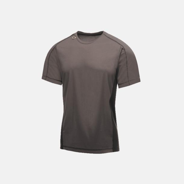 Iron/Svart (herr) 2-färgade funktions t-shirts med reklamtryck
