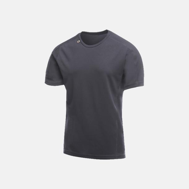 Marinblå (herr) 2-färgade funktions t-shirts med reklamtryck
