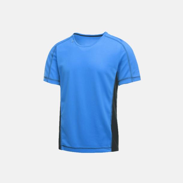 Oxford Blue/Marinblå (herr) 2-färgade funktions t-shirts med reklamtryck