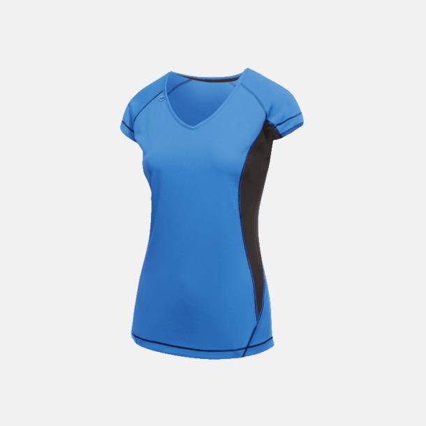 Oxford Blue/Marinblå (dam) 2-färgade funktions t-shirts med reklamtryck