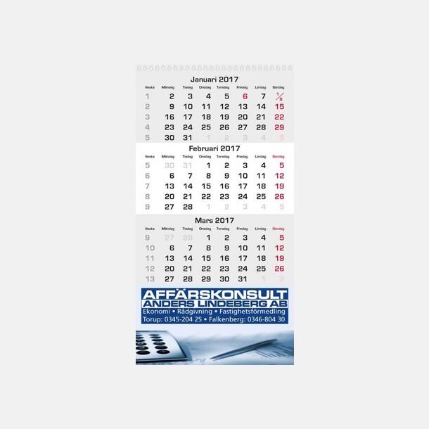 Almanacka med 3 månader i taget - med reklamtryck