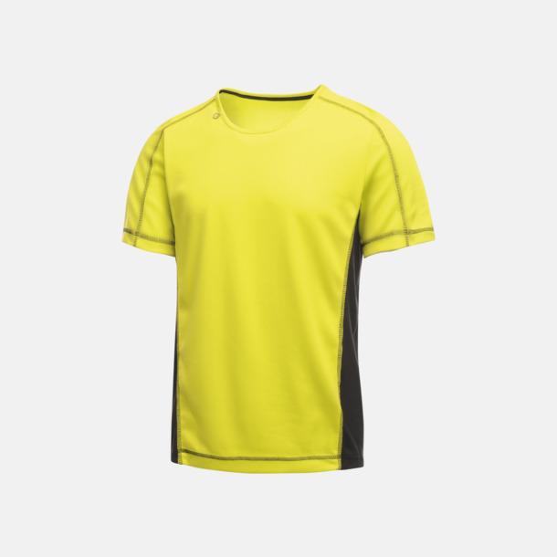 Lime Zest/Svart (herr) 2-färgade funktions t-shirts med reklamtryck