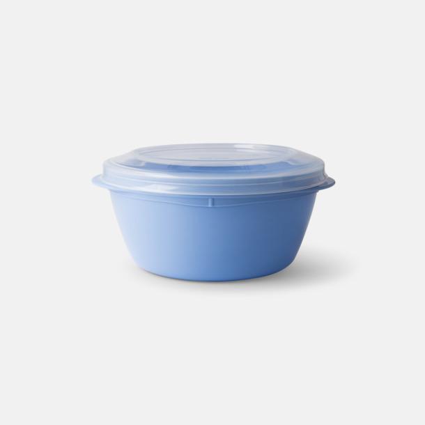 Pastellblå (PMS 644) Mindre matlådor med reklamtryck