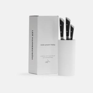 3-delars kock knivset med knivblock från Selected by Leif Mannerström