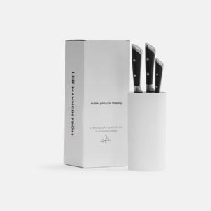 3-delars japanskt knivset med knivblock från Selected by Leif Mannerström