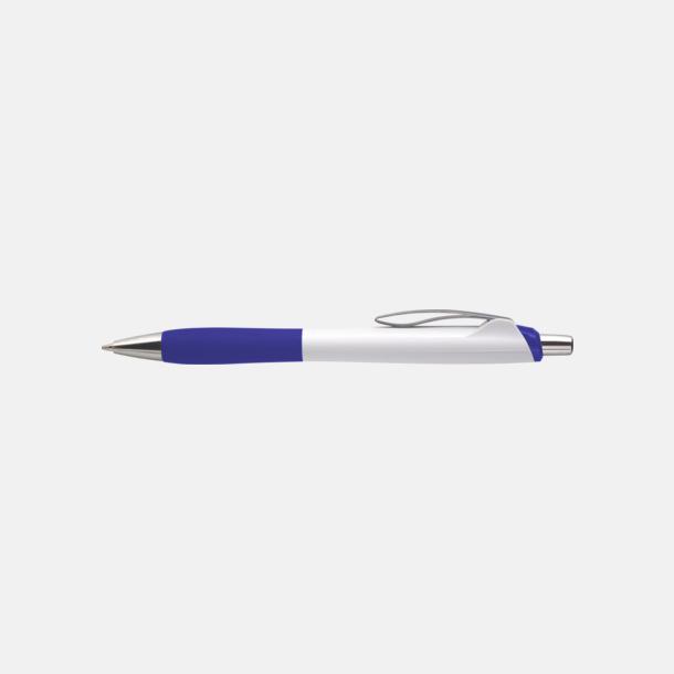 Vit/Blå (chrome) Fina reklampennor med eget tryck
