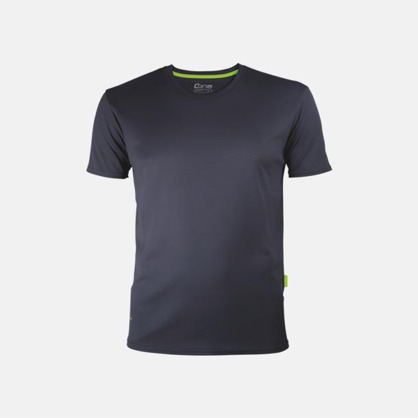 Anthracite (herr) Tränings t-shirts i återvunnet material med reklamtryck