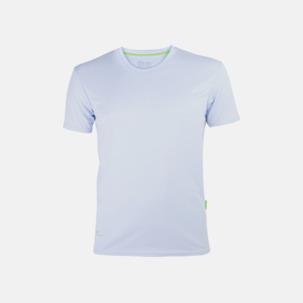 Tränings t-shirts i återvunnet material med reklamtryck