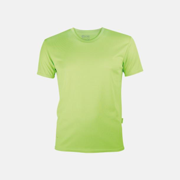 Lime (herr) Tränings t-shirts i återvunnet material med reklamtryck