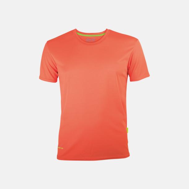 Orange (herr) Tränings t-shirts i återvunnet material med reklamtryck