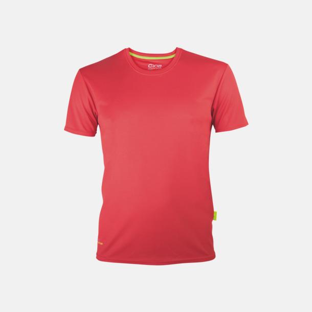Röd (herr) Tränings t-shirts i återvunnet material med reklamtryck