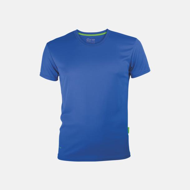 Royal Blue (herr) Tränings t-shirts i återvunnet material med reklamtryck