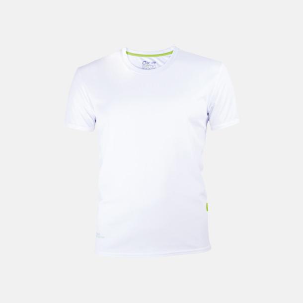 Vit (herr) Tränings t-shirts i återvunnet material med reklamtryck