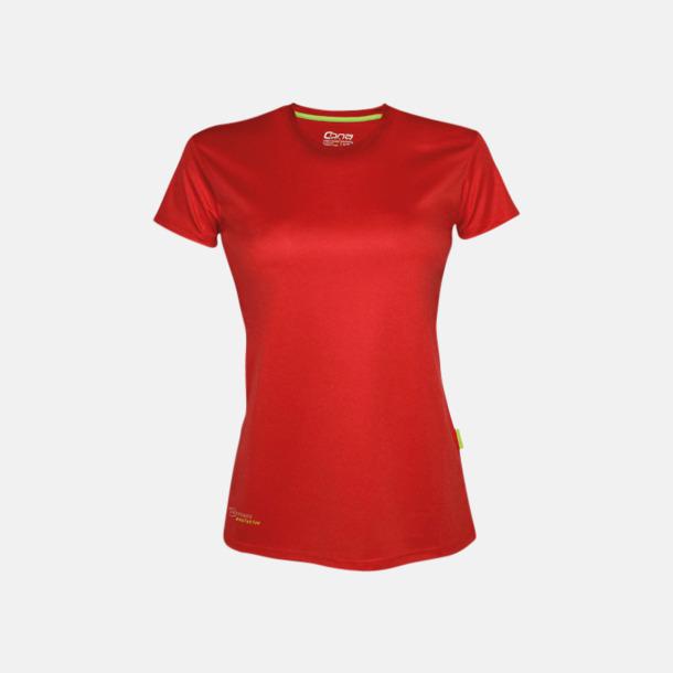 Röd (dam) Tränings t-shirts i återvunnet material med reklamtryck