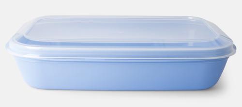 Pastellblå (PMS 644 C) Matlådor med reklamtryck