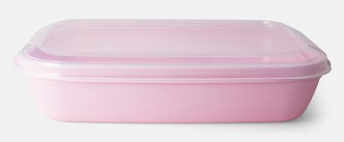 Pastellrosa (PMS 496 C)  Matlådor med reklamtryck