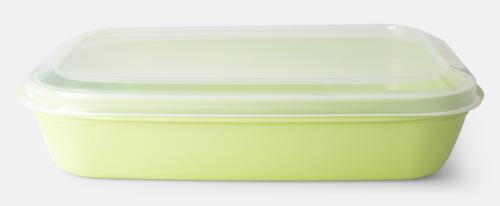 Pastellgrön (PMS 365 C) Matlådor med reklamtryck