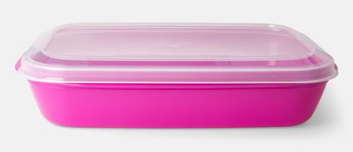 Rosa (PMS 2415 C) Matlådor med reklamtryck