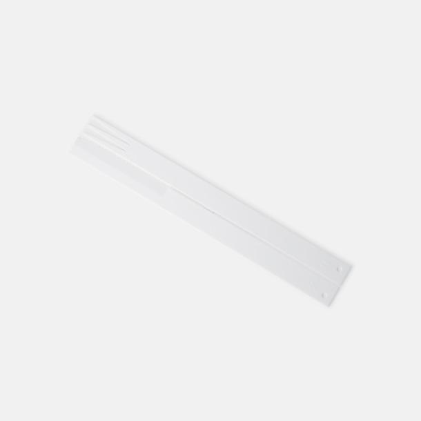 Vit Plastbestick med reklamtryck