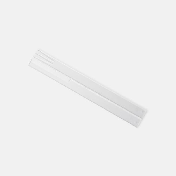 Transparent Plastbestick med reklamtryck