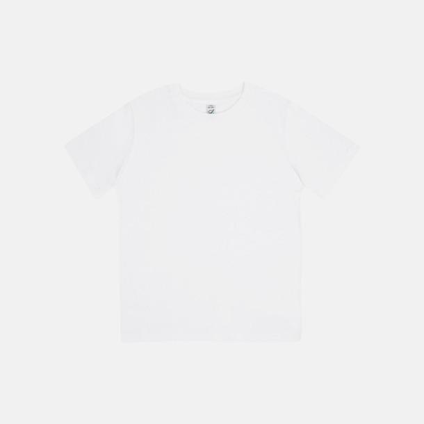 Vit (barn) Eko t-shirts för vuxna & barn - med reklamtryck