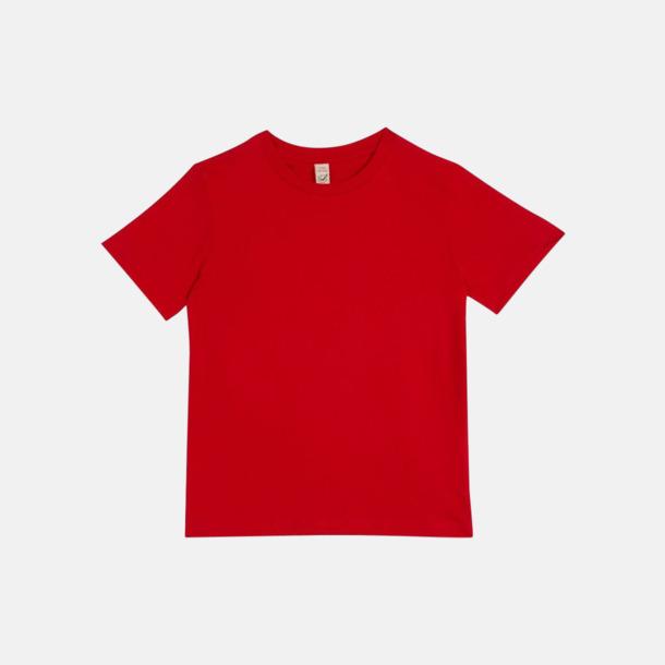 Röd (barn) Eko t-shirts för vuxna & barn - med reklamtryck