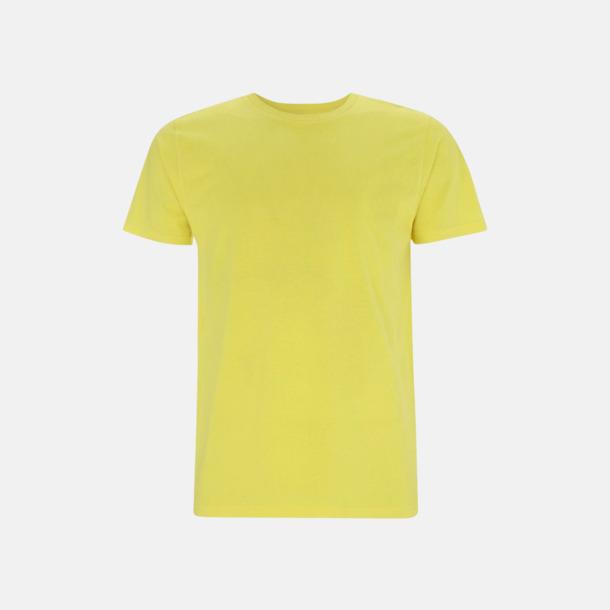 Gul (unisex) Eko t-shirts för vuxna & barn - med reklamtryck