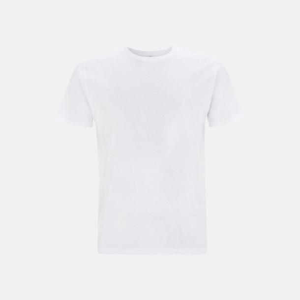 Vit (unisex) Eko t-shirts för vuxna & barn - med reklamtryck
